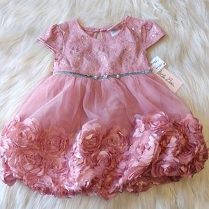 Nwt Little Lass 18m Infant Girl Formal Dress